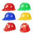 set of building helmet vector image