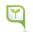 eco GREEN pointer vector image