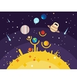 Solar system flat style vector image vector image