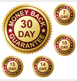money back guarantee vector image vector image