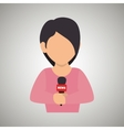 news reporter design vector image