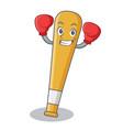 boxing baseball bat character cartoon vector image