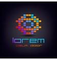 colorful pixel geometric logo vector image