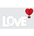 Concept of Valentine day hot air balloon in a hear vector image