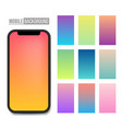creative of mobile app soft vector image