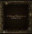 gold glitter luxury background gold frame vector image
