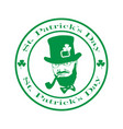 saint patrick day logo vector image