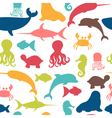 Underwater seamless pattern with fishes octopus vector image vector image
