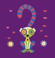 happy lemur vector image