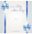 Baby boy announcement card of twins vector image