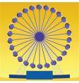 ferris wheel illusion vector image