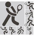 2290 tennis icons vector image