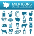 milk icons vector image