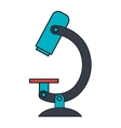 Mircroscope science tool icon vector image