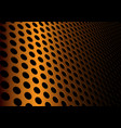 abstract gold metal circle mesh 3d background vector image