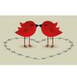 birds love card vector image