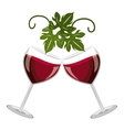 cheers glasses of wine graphic vector image