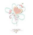 Happy birthday heart vector image