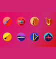 instrument icons set vector image