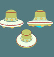 UFO unidenty object from outer space in retro sty vector image
