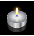 remembrance candle vector image