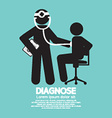 Doctor With Patient Diagnose Concept Black Symbol vector image