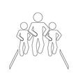 sport people vector image