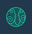 M letter line logo vector image