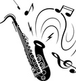 Saxophone music concept vector image vector image