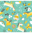 doodle unicorns seamless pattern vector image