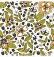 Floral seamless pattern with blackberries vector image