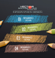 Infographic Template with Colorful Pencils Drawing vector image