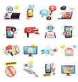 mail spam icons set vector image