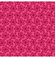 small flower pattern pink background vector image