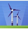 Wind Power - flat design single icon vector image