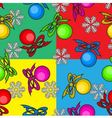colorful seamless background with Christmas toys vector image