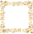 Golden jewelry frame vector image