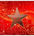 star with swirls background vector image vector image