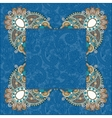 floral frame ethnic ukrainian ornament on paisley vector image vector image