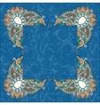 floral frame ethnic ukrainian ornament on paisley vector image