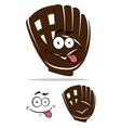 Cute cartoon baseball glove vector image vector image