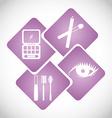 make up infographics vector image