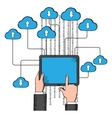 Cloud storage and computing service vector image vector image