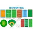 Set of most popular sample sport fields vector image