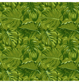 Tropical Leaves Background - Seamless Pattern vector image