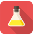 Closed test tube icon vector image