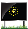 eu with euro in colorful vector image