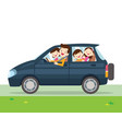 family car simplified of a vehicle vector image