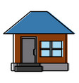 house facade small steps architecture icon vector image