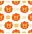 Lion face on a white background isolated vector image